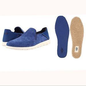 UGG Men's Knox Suede Slip On Sneaker, Blue